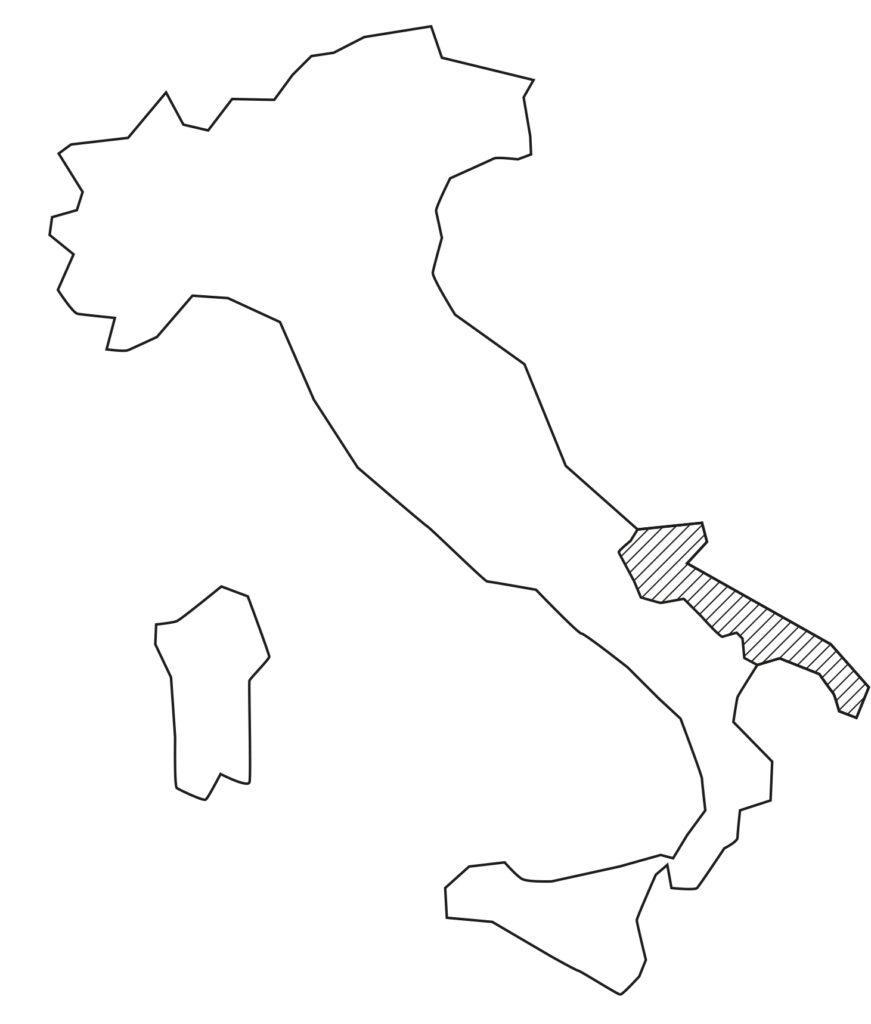 Karte-Apulien